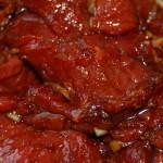 Mariniertes Rind für Satay-Spieße